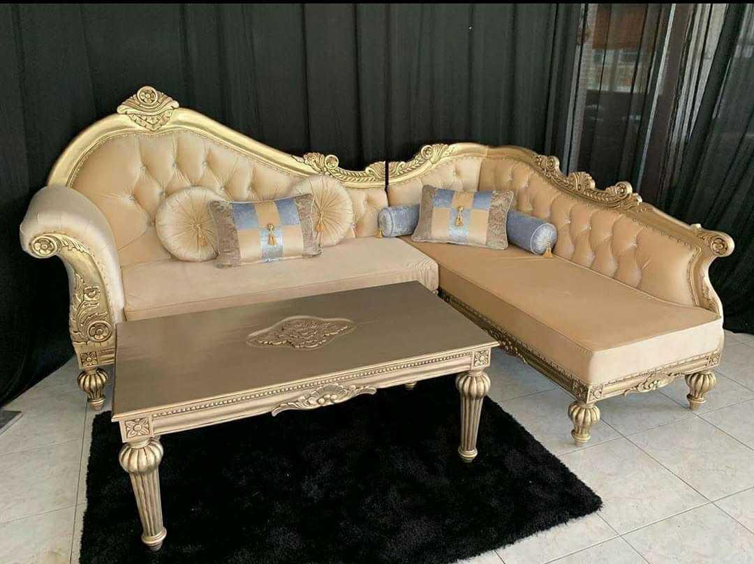 Sofa Sudut Ukir Jepara Terbaru 2020