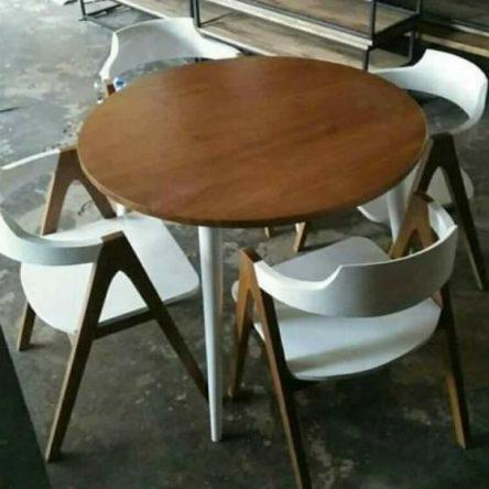 Kursi Cafe Kayu Jati Minimalis Murah Model Terbaru