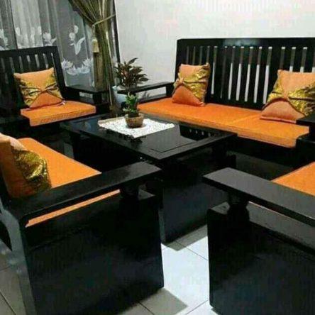 Inspirasi Kursi kayu ruang tamu minimalis modern